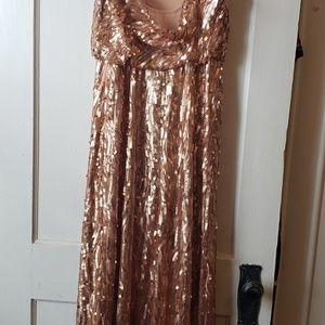 Donna Morgan Dresses - Donna Morgan, gold sequin Courtney Dress